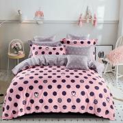 Постельное белье Горохи на розовом