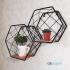 Полка шестиугольник большая